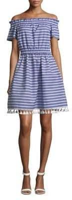 Eliza J Striped Cotton Shift Dress