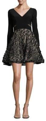 Xscape Evenings Petite Floral Fit-&-Flare Dress