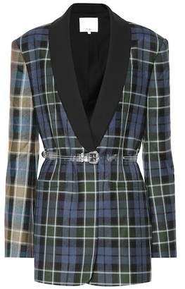 Tibi Plaid virgin wool blazer