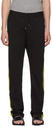 Bottega Veneta Black and Green Colorblock Track Pants