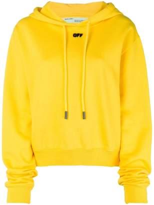 Off-White logo print hoodie