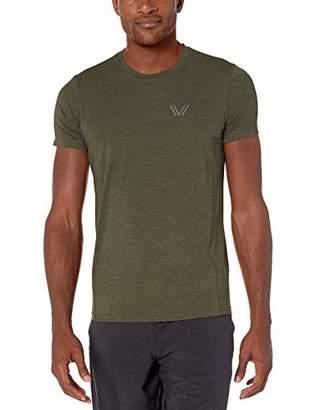 Amazon Brand - Peak Velocity Men's Tech-Stretch Short Sleeve Quick-Dry Athletic-Fit T-Shirt