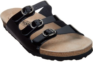 Mephisto Leather Triple Strap Slide - Nolene