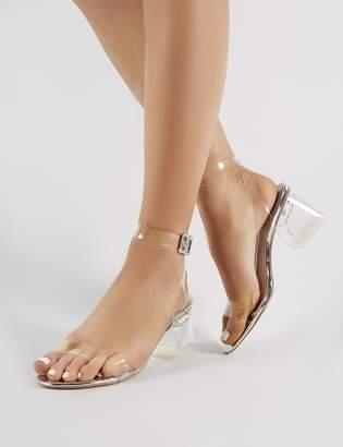 968581c0572 Public Desire Afternoon Perspex Block Heels