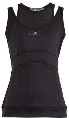 adidas by Stella McCartney Train Double Layered Tank Top - Womens - Black