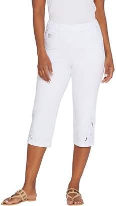 Factory Quacker DreamJeannes Pull-On Capri Pants w/ Cut-Out Detail