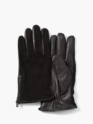 John Varvatos Classic Leather & Suede Gloves