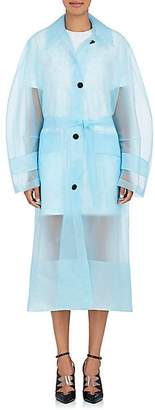 Calvin Klein Women's Matte Plastic Belted Mackintosh Coat