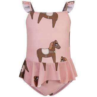 Mini Rodini Mini RodiniGirls Pink Horse Skirt Swimsuit