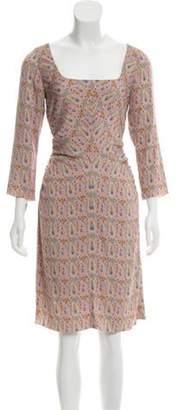 Marc Jacobs Paisley Print Silk Dress Pink Paisley Print Silk Dress