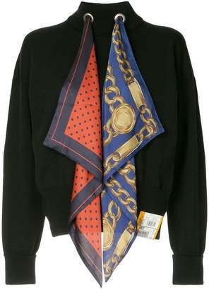 Miharayasuhiro scarf detail sweater