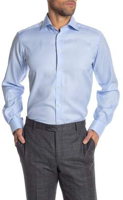 Eton Solid Long Sleeve Contemporary Fit Shirt