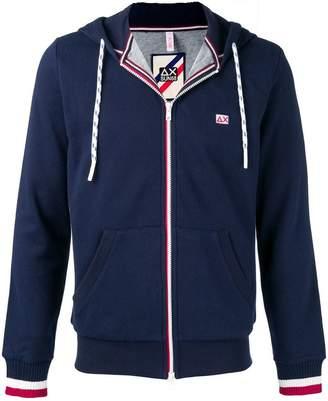 Sun 68 zipped logo hoodie