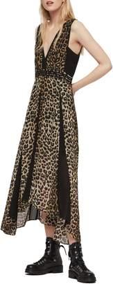 AllSaints Macella Leppo Leopard Print Dress
