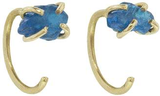 Melissa Joy Manning Neon Apatite Hug Hoop Earrings - Yellow Gold