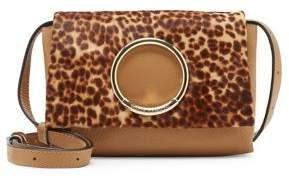 Vince Camuto Kimi Leopard-Print Calf Hair & Leather Convertible Shoulder Bag