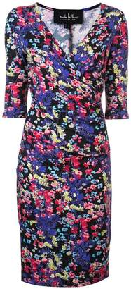 Nicole Miller floral print fitted dress