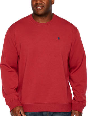 Izod Advantage Stretch Solid Fleece Crew Long Sleeve Sweatshirt Big and Tall