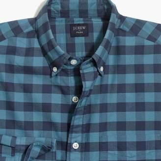J.Crew Factory Slim-fit flex oxford cotton shirt in gingham