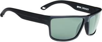 SPY Rocky Matte Black Happy Grey Green Sunglasses