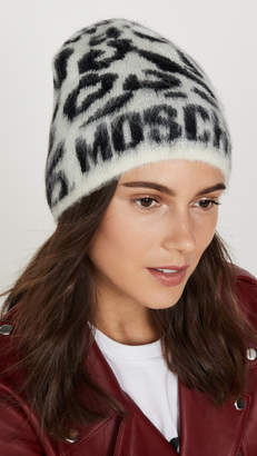 Moschino Leopard Logo Hat