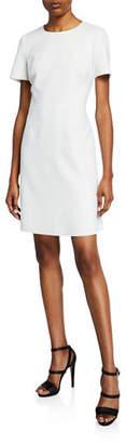 Kobi Halperin Harper Jewel-Neck Short-Sleeve Sheath Dress