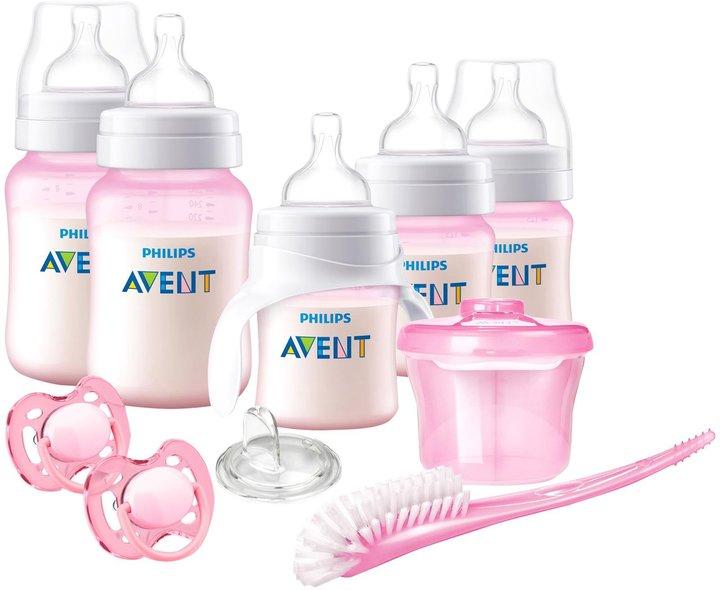 Avent Anti-Colic Bottle Bpa Free Baby Starter Gift Set - Pink