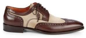 Mezlan Suede & Leather Wingtip Loafers