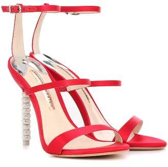 Sophia Webster Rosalind crystal-embellished satin sandals