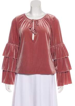 MISA Los Angeles Pink Velvet Top