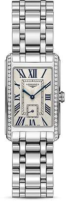 Longines Stainless Steel Watch with Diamonds, 37mm $3,675 thestylecure.com