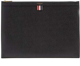 Thom Browne Large pebbled-leather document holder