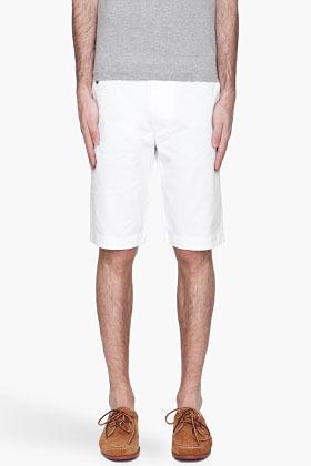 Diesel White Chi Tight Shorts