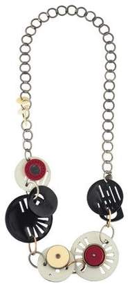Marni Horn, Resin & Leather Necklace