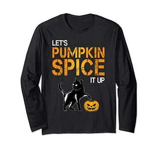 Pumpkin Spice Shirt Cats Long Sleeve Halloween Costume