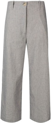 Semi-Couture Semicouture cropped wide leg trousers