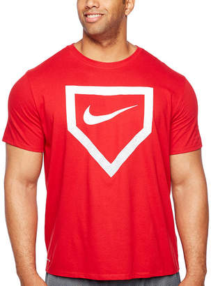 Nike Short Sleeve Crew Neck T-Shirt-Big and Tall