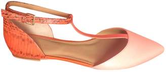 Calvin Klein Orange Leather Ballet flats