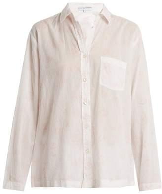 Pour Les Femmes - Floral Print Cotton Batiste Pyjamas - Womens - Pink