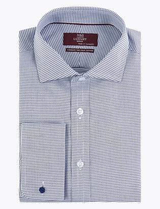 Marks and Spencer Cotton Wave Stitch Easy to Iron Shirt