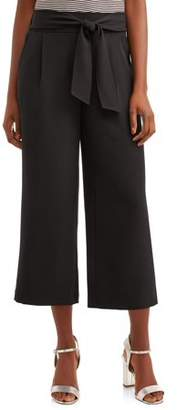 Time and Tru Women's Wide Leg Soft Pant