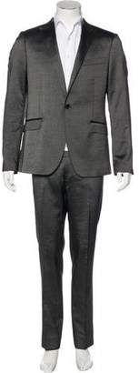CNC Costume National Metallic Wool-Blend Suit