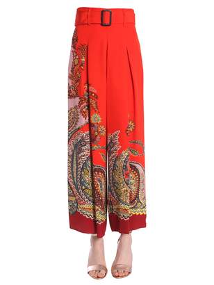 Etro paisley printed trousers