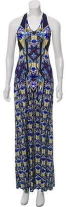 Mary Katrantzou Sleeveless Printed Maxi Dress Blue Sleeveless Printed Maxi Dress