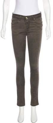 Plein Sud Jeanius Mid-Rise Skinny Jeans.