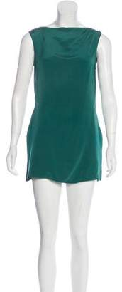 Emporio Armani Silk Sleeveless Tunic
