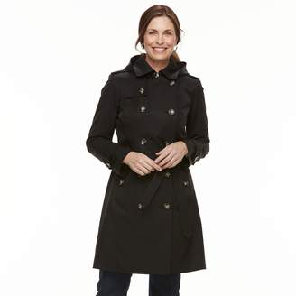 London Fog Tower By Women's TOWER By Hooded Trench Coat