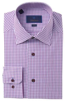 David Donahue Check Slim Fit Dress Shirt