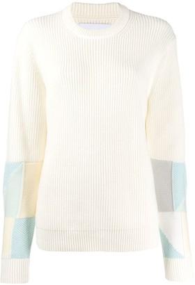 Calvin Klein Jeans crew-neck patchwork jumper