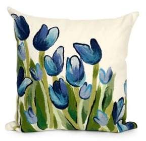 Visions II Allover Tulips Indoor and Outdoor Square Pillow